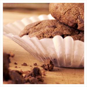 Double Chocolate Gluten Free Oat Flour Cookies